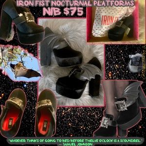 NIB Iron Fist Nocturnal Platform Bat Wing Shoes